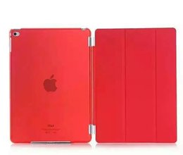 Wholesale apple canvas - Ultra Thin Smart Magnetic case For Ipad mini mini2 mini3 mini4 Air Air2 3 4 5 6 Foilo cover Flip stand Hard Clear Crystal 20pcs