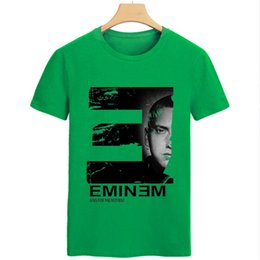Wholesale Fashion For Short People - New Arrivals Men T Shirts Printing Eminem People Idol Short Sleeved 100% Cotton Rock Musi Male T-Shirt For Men