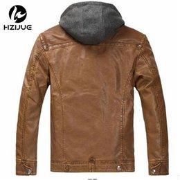 Wholesale Mens Fur Jackets Xxl - Fall-New 2015 Winter Mens Fur Stand Collar Thickening&Wool Windbreak Waterproof Leather Jackets Men's Lether Coat plus Size M-XXL