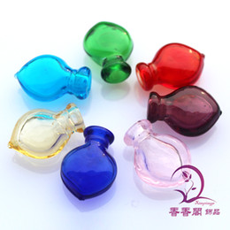 Wholesale Necklace Vial Heart - 17X23MM,Murano Glass Essential Oil Vial Small Heart,Perfume Bottle bracelets perfume vials