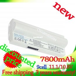 Wholesale A23 Battery Free Shipping - Free shipping- 7800mAh White laptop battery for Asus Eee PC 2G 4G 4G 700 701 8G 900 A22-700 A22-P701 A23-P701 P22-900
