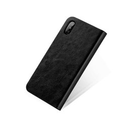 Wholesale Mobile Flip Cover Case - Black NEW PU Filp Mobile Case Cover Leather Cellphone Cases Wallet Flip Leather Case For Iphon 7 7plus X Free Shipping