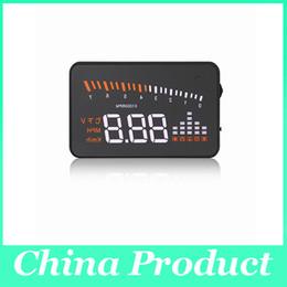 Wholesale Plug Alarm - X5 3 inch Car OBDII HUD Head Up Display Projector Speed Warning System OBD II Cable Anti-skid Mat Plug 002988