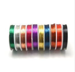Wholesale Wire 1mm - 1mm 18gauge 2m roll 10rolls lot 10 Colors round Copper Wires DIY Jewelry Bracelet earring wire memory wire
