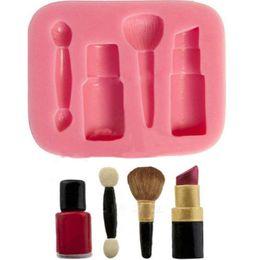 Wholesale Cake Makeup Mould - 1 PCS New Fashion Makeup Tools Design Lipstick Fondant Cake Molds Tools Soap Chocolate Mould Bakeware