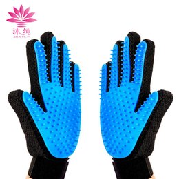 Wholesale Massage Combs - Pet Cleaning Brush Glove Dog Comb Silicone Bath Mitt Pet Dog Massage Hair Removal Grooming Glove Pet Supplies