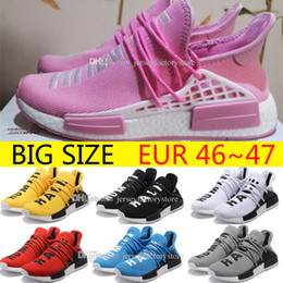 Wholesale Big Women Hot - Hot Original Pharrell Williams X NMD Human Race Running Shoes NMD Runner NMD mens and women Trainers Sneakers Boots Big Size 36-47 for sale