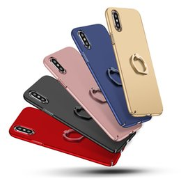 Wholesale Blue Sand Ring - Moblie Phone Ring Frame X Sanding Shell Ultra Thin Creative Protective Cover Pure color Slimply TPU Clear Shockproof Case Phone Protector