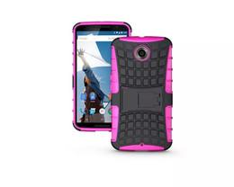Wholesale Nexus Hard Cases - Luxury Hybrid Spider Man Shockproof Hard Plastic Kickstand Stand Rubber skin back cover case cases For google nexus6 nexus 6 5pcs 10pcs