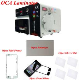 Wholesale Vacuum Frame - 5 in 1 Mobile Phone LCD Vacuum OCA Laminating Machine Laminator + OCA Glue + Polarizer + LCD Front Glass + Mid Frame Holder