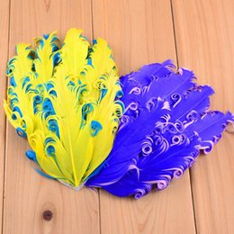 Wholesale Curly Feather Pads Wholesale - 10pcs  Lot 4 Inch Solid Headwear Curly Feather Pads Hat Embellishments Diy Girls Hair Accessories Fashion Headbands Th17