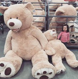 "Wholesale Huge Soft Plush Teddy Bear - Wholesale 200cm(78"") GIANT HUGE BIG BROWN TEDDY BEAR COVER SHELL STUFFED ANIMAL PLUSH SOFT TOY"