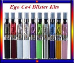 Wholesale Ego Colorfull - Colorfull EGo CE4 Blister kit electronic cigarette starter kits with ce4 atomizer 650 900 1100 mAh ego t battery VS EVOD mini protank 2 kit