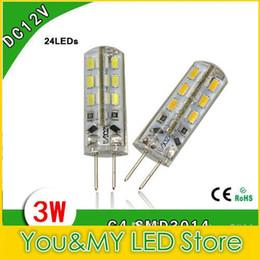 Wholesale Dc 24 2w - 200PCS SMD 3014 LED Bulbs lights DC 12V G4 2W 3W 24 Leds warm cool white led corn Bulb 2 years warranty