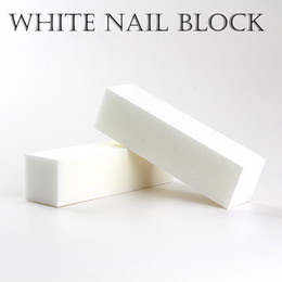 Wholesale Sanding Files - Wholesale-10PCS good quality wholesale Free shipping White Buffing Sanding Files Block Pedicure Manicure Care Nail file Buffer for SALON
