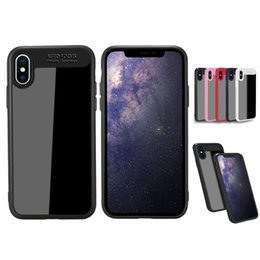 Wholesale Apple Auto - For iPhone X Auto Focus Case Premium Hybrid PC TPU Clear Case Hard Transparent Back Soft TPU Edge Bumper Back Cover Case With Opp Package