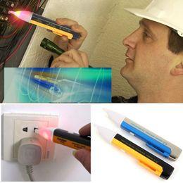 Wholesale Electric Voltage Detector Pen - New Led Electric Voltage Tester Detector Sensor Pen Alert Stick Volt Sensor 90~1000V #ZH079