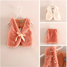 Wholesale Cardigan Sale Baby Girl - Cute Girls Pure Color Waistcoat Kids Beaded Vest 2015 New Hot Sale Children Cardigan Waistcoats Baby Girl Clothing Child Vests Outwear