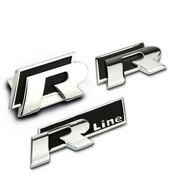 Adesivos passat on-line-Carro de alta Qualidade de metal decoração emblema R / R Linha 3d adesivo para Volkswagen VW Golf 6 Golfe 7 Jetta MK5 MK6 POLO passat B5 B6 B7