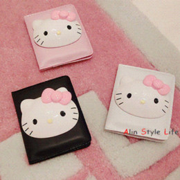 Wholesale Portable Heart Monitors - HOT! 1 pcs Portable lovely Hello Kitty makeup mirror Leather Mini mirror mirror monitor windows xp