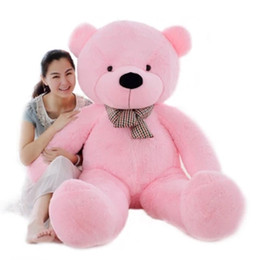 Wholesale Brown Huge Teddy Bear - New Arriving Giant Right-angle measurements 200CM 78''inch TEDDY BEAR PLUSH HUGE SOFT TOY Plush Toys Valentine's Day gift 5 color brown