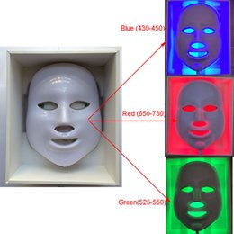 Wholesale Noses Led - new LED Facial Mask face skin care led light therapy Led Photon Facial PDT mask skin rejuvenation Beauty Therapy 3 Colors Lights