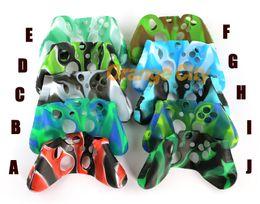 Wholesale Silicon Case Xbox - Soft silicone case camouflage colorful controller silicon case For Xbox one Controller case