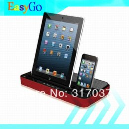 Wholesale Dock Speaker S3 - iPEGA Multi-Functional Charger Dock Station Stand+Stereo Speaker For iPhone 4 4S 5 iPad 2 3 4 Mini Samsung Galaxy S2 S3 Note2