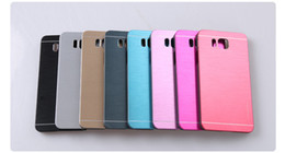Wholesale Metal Cover For Note2 - Motomo Back Cover For Samsung Galaxy Note2 Note3 Note4 G360 G7106 G355 i9082 G850 G530 Metal Aluminum Alloy + PC Brushed Case