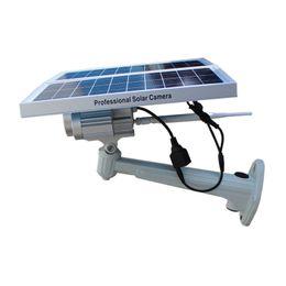 Wholesale Solar Powered Ip Camera Wireless - Solar Power battery Wireless IP Cameras Waterproof Surveillance Security Camera Night Vision IR cameras 720P
