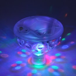 Wholesale Wholesale Hot Tubs - New Underwater LED Light Disco Lighting Mode Glow Show Garden Pond Hot Tub Swimming Pool Lights Colorful Water Lights