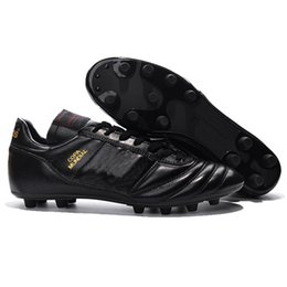 Wholesale Size 45 Boots - Copa Mundial FG Football Shoes Soccer Cleats Black Color Soccer Boots Mens Football Boots Size:39-45