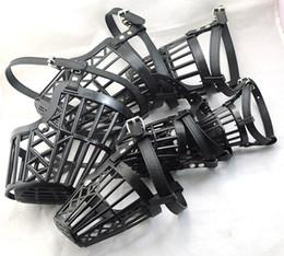 """Wholesale Large Baskets Wholesale - Wholesale-NEW Pet Dog Black (6""""~13.5"""") Dog no bark Adjustable Basket Cage mesh Muzzle mask Guardian B80"""
