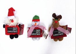Wholesale Hanging Outdoor Christmas Decorations - blackboard Christmas door hanging Outdoor christmas decorations Ornaments Child Xmas Home Party Decorations free shipping Hot sell CC04