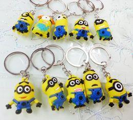 Wholesale Doll Minion 3d - Yellow Man Minion Doll Keychain Key ring Despicable Me 3D Custom Keyrings Cute Cartoon Designer Gifts 10 Styles KE004