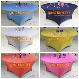 Wholesale Table Cloth Covers Wholesale - High Thick Round Lycra Spandex Table Cover \ Cheap Wedding Table Cloth For Event And Party Decoration