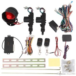 Wholesale Remote Car Door Kit - Car Door Remote Keyless Entry Central Lock Locking Kit Car Alarm 12V