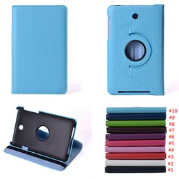 Wholesale Rotating Case Asus - For Asus MeMO Pad HD 7 ME173X Rotating Stand Flip PU Leather Smart Tablet Cover Case With Free Shipping
