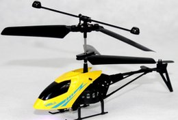 Wholesale Remote Control Helicopters 24 - Popular Mini Remote Control Aircraft Two Channels All Plastic Infrared Remote Control Helicopter With LED Blue Red Lights 1Set Free Shipping