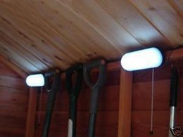 Luzes led led on-line-Shed coberta 5 LED Light + Energia Solar Painel Garden Lamp + 5LED lançar luz