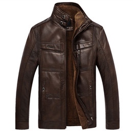 Wholesale Dong Man - Fall-Qiu dong season more men's leather jackets and fleece business casual warm coat in middle-aged plus-size free shipping 4xl