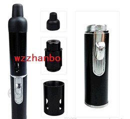 Wholesale Mini Gas Bbq - 6 colors sneak A vape Click N Vape Mini Herbal Vaporizer smoking pipe Trouch Flame Lighter with built-in Wind Proof Torch Lighters