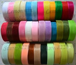 Wholesale sheer ribbon wholesale - SALE! 2cm width Wholesale Lace transparent yarn Sheer organza ribbon webbing Christmas decoration wedding decoration, 250Yard Roll color