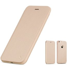 Wholesale Hoco Leather Iphone Cases - New arrival fluid design HOCO Brand TPU Leather Flip cellphone Case Slim Folding Stand Cover Case for iPhone 5 5s