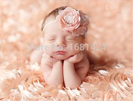 Wholesale Newborn Shoot - Wholesale-130cm x 90cm photography props baby shooting blanket background blankets newborn studio props baby Rose Fabric for Photography
