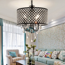 Wholesale cheap black crystal chandelier - Nordic American crystal chandelier crystal crystal chandeliers cheap lights Iron Living room, dining room, bedroom light
