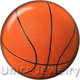 Canada AD1301127 12/18 / 20mm Snap On Charms pour Bracelet Collier Hot Sale Bricolage Boutons en verre Boutons Bijoux Design Basketball noosa Offre