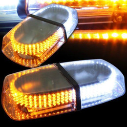 Wholesale Led Roof Amber - White & Amber 240 LED Light Roof Top Emergency Hazard Warning Flash Beacon Lamp free shipping