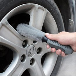 Wholesale Tools For Cleaning Cars - Promotional 25*7cm car wheel wash car supplies tools brush gray for car wheel cleaning