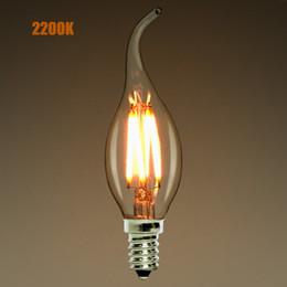 12v lâmpadas pretas Desconto Dimmable, E12 E14, 2W 4W 6W LED Candelabro Filamento Lâmpada, 2200K (amarelo quente), Chandelier Flame Tip, 110-240VAC, Retro Lamp